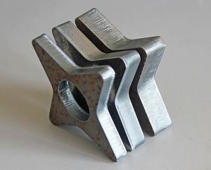四角星激光切割